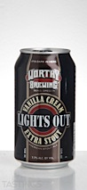 "Worthy Brewing Co. ""Lights Out"" Vanilla Cream Extra Stout"
