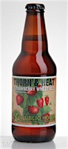 "Public House Brewing Company ""Thorn & Heat"" Strawberry Wheat Ale"