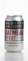 Branchline Brewing Company Dark Territory Oatmeal Stout