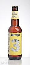 Sprecher Brewing Co. Belgian Tripel Ale