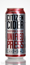 Citizen Cider Unified Press Traditional Semi-Dry Cider