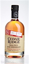 Cedar Ridge Distillery Malted Rye Whiskey