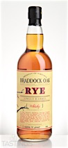 Braddock Oak Single Barrel Rye Whisky