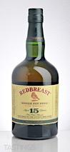 REDBREAST 15 Year Old Single Pot Still Irish Whiskey
