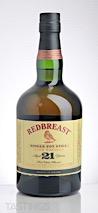 REDBREAST 21 Year Old Single Pot Still Irish Whiskey