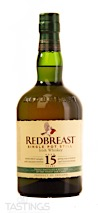 REDBREAST 15 Year Old Single Pot Still Irish Whiskey