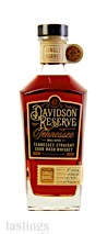 Davidson Reserve Single Barrel No. 15-0026 Small Batch Tennessee Straight Sour Mash Whiskey