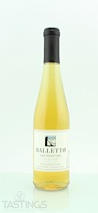 Balletto Vineyards 2009 Estate, Vin de Paille, Pinot Gris, Russian River Valley
