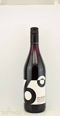 Six Degrees 2011 Pinot Noir, California