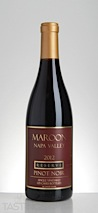 Maroon Wines 2012 Reserve Single Vineyard 125 Cases Bottled Pinot Noir
