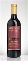 Maroon Wines 2012 Maroon Vineyard Reserve, Cabernet Sauvignon, Coombsville, Napa Valley