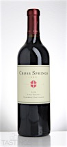 Cross Springs 2014 Reserve, Cabernet Sauvignon, Lake County