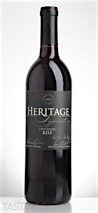 Heritage 2012 Estate Reserve BDX Red Blend Outer Coastal Plain