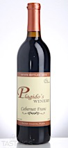 Plagido's Winery 2016 Estate Bottled Cabernet Franc