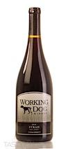 Working Dog Winery 2016 Estate Bottled, Syrah, New Jersey