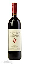 Alexander Valley Vineyards 2018 Estate, Merlot, Alexander Valley